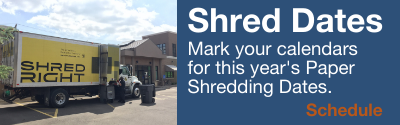 Paper Shredding Dates